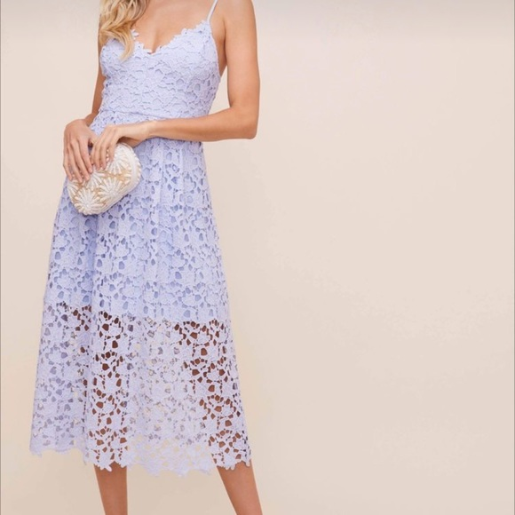Periwinkle lace dress. Worn once.